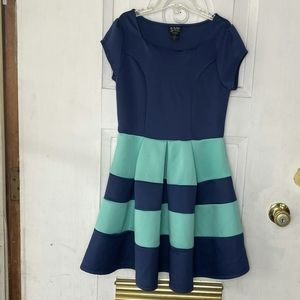 Blue and turquoise kids dress